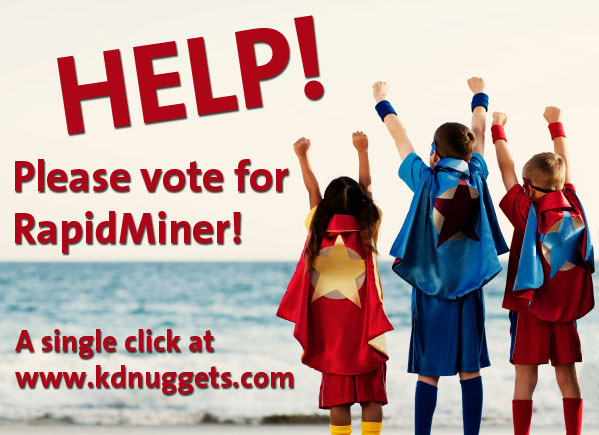 Please vote for RapidMiner at the KDNuggets Poll 2012